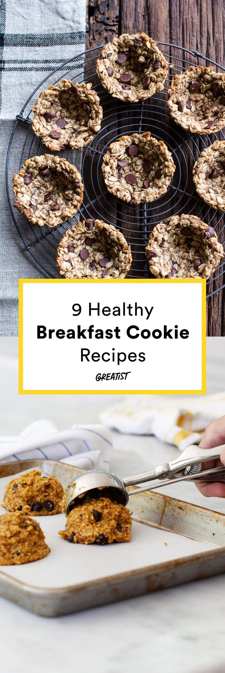Getting out of bed in the morning just got a LOT easier. #Healthy #Breakfast #Cookies http://greatist.com/eat/healthy-breakfast-cookies