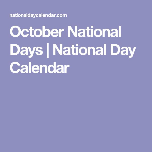 October National Days | National Day Calendar