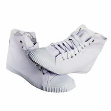 HI HIGH TOP PLIMSOLLS PLIMSOLES PLIMSOLS PUMPS WHITE FACTORY SECONDS MENS WOMENS
