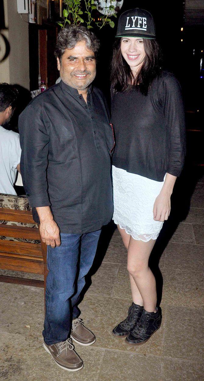 Vishal Bhardwaj And Kalki Koechlin At The Success Bash Of 'hunterrr'  #bollywood