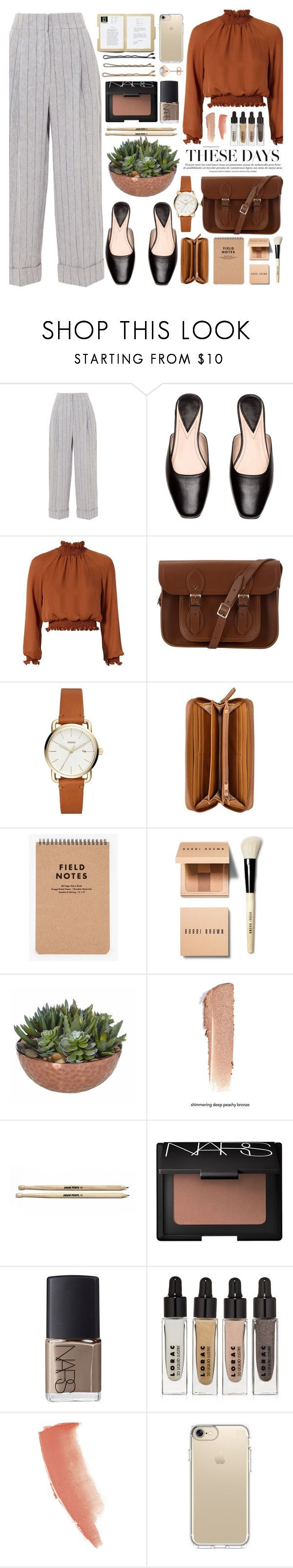 """St. Beauty - Not Discuss It"" by annaclaraalvez ❤ liked on Polyvore featuring Brunello Cucinelli, Cinq à Sept, The Cambridge Satchel Company, Nine West, Bobbi Brown Cosmetics, NARS Cosmetics, LORAC, Charlotte Tilbury, Guide London and Speck"