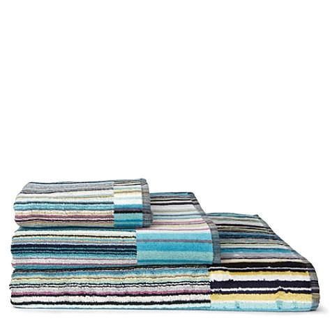 MISSONI HOME Jazz towels blue