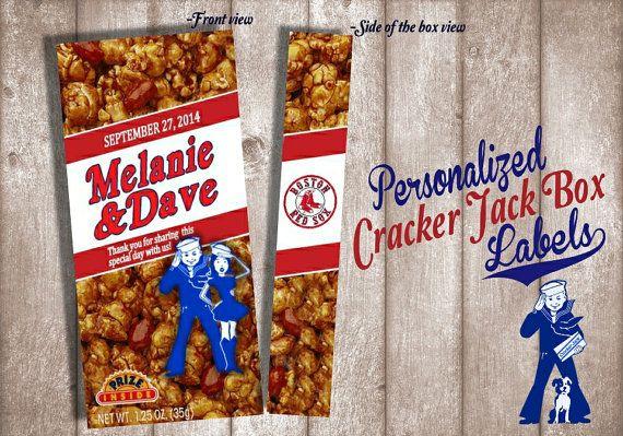 Digital Cracker Jack Label --Wedding Favor, Birthday Favor, Shower Favor -- Digital Download