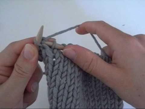 Augmentations au tricot (1 ou 2 mailles)