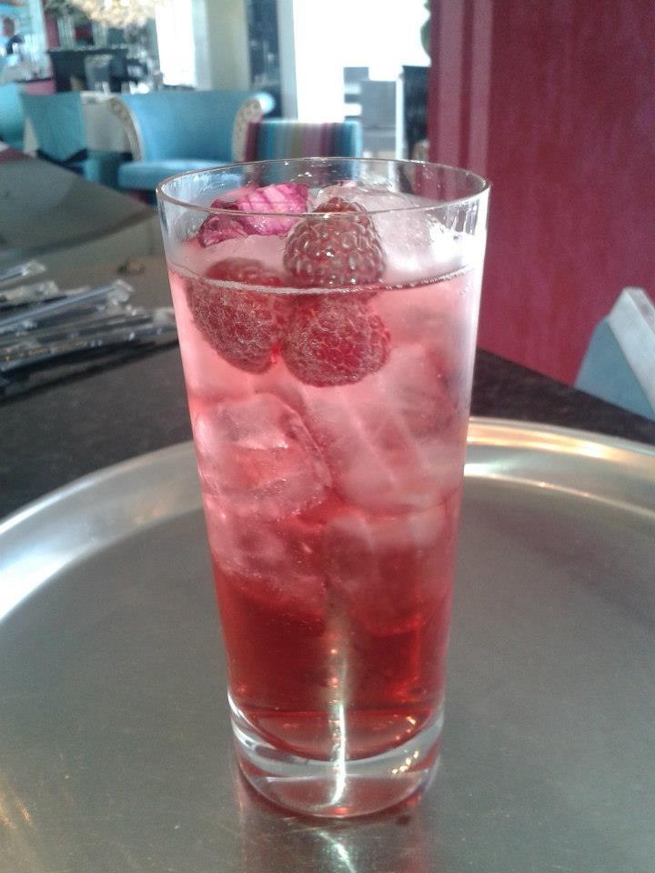 Raspberry Cocktail from Gisela's, Vale do Lobo, Algarve
