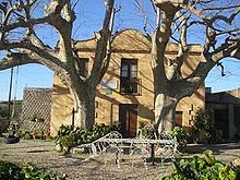 This is the El mas de la calderera, the house of childhood Gaudi. His home was located in Riudoms, Catalonia.