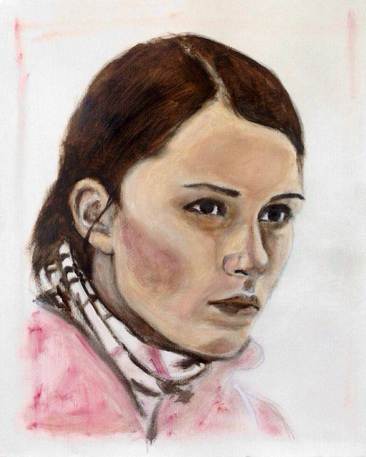 Russian curling skip Anna Sidorova, acrylic on paper 40x50 ...