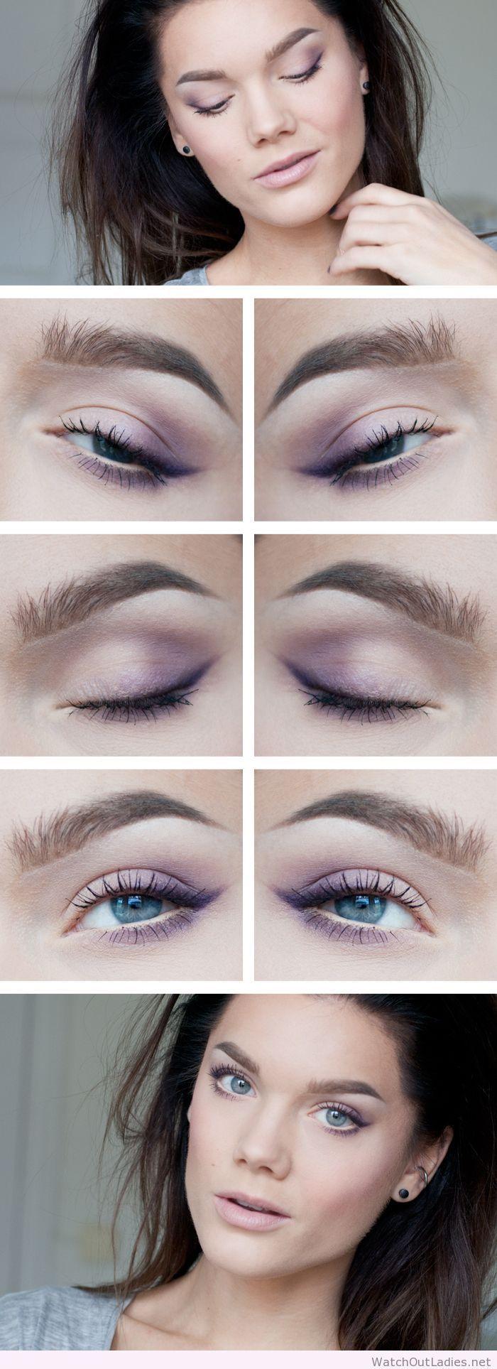 Linda Hallberg simple purple eye makeup