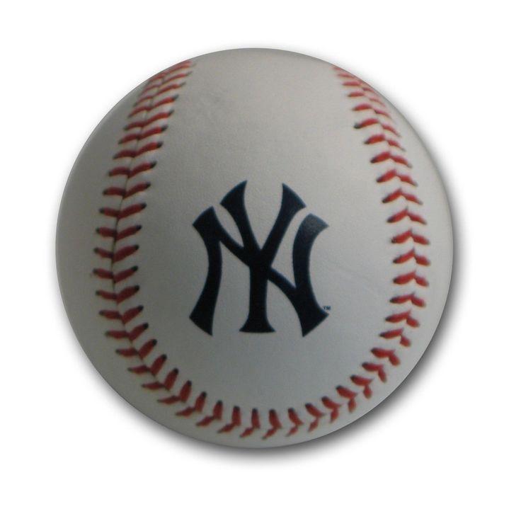 Blank Leather Team Logo Baseballs - New York Yankees