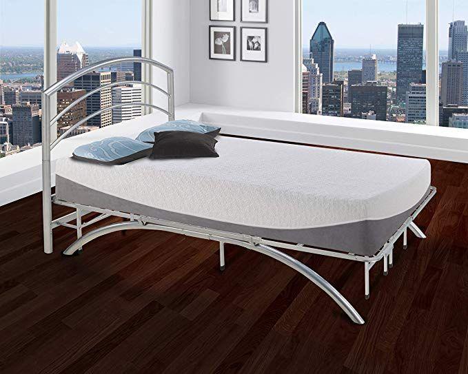 Boyd Sleep Arched Platform Bed Frame Metal Mattress Foundation With Headboard Silver Twin Review Platform Bed Frame Metal Platform Bed Arched Headboard
