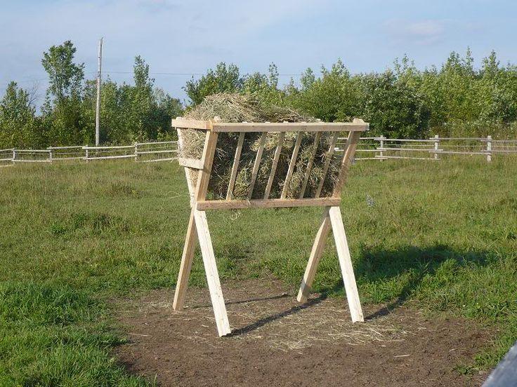 Build hay feeder for goats goats pinterest
