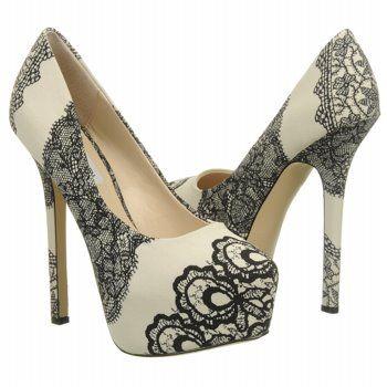 Women's Steve Madden Dejavu Black/White Shoes.com OMG! Super cute!