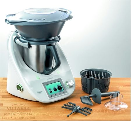 new Thermomix with varoma steamer and attachments