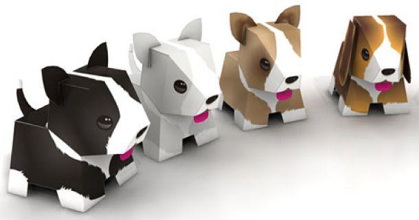 Perritos 3D para imprimir y armar gratis | Tarjetas Imprimibles