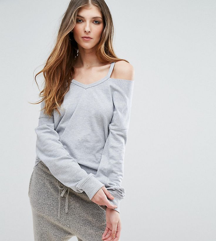 Get this Missguided Tall's top off shoulder now! Click for more details. Worldwide shipping. Missguided Tall Exclusive Cut Out Sweatshirt - Grey: Top by Missguided Tall, Sweat fabric, V-neck, Cut-out cold shoulder design, Drop shoulders, Fitted cuffs, Regular fit - true to size, Machine wash, 55% Polyester, 45% Cotton, Our model wears a UK 8/EU 36/US 4 and is 180cm/5'11 tall. With an eye on the catwalks and hottest gals around, Missguided's in-house team design for the dreamers, believers…