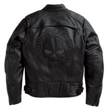 Men's Reflective Skull Leather Jacket | MotorClothes® Merchandise | Harley-Davidson USA