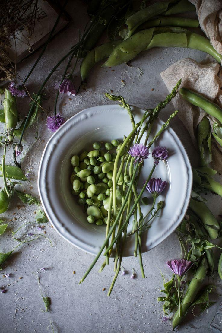 Seed Polenta with Simple Spring Ragu & Pea Pod Pesto | Hortus Natural Cooking