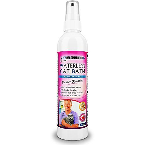NEW Vet Recommended - Waterless Cat Shampoo - Detergent and Alcohol Free - Apple Extract Dry Cat Shampoo Spray to Clean, Moisturize #CatSprayingProducts