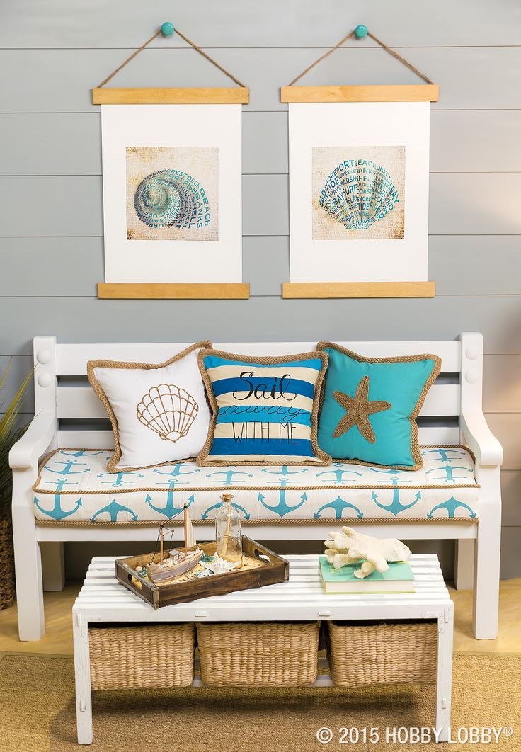 Who would have thought that jute could transform plain pillows into nautical masterpieces?