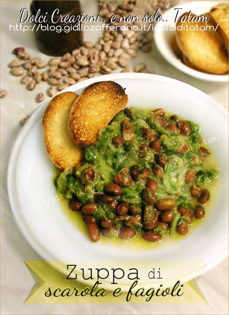 Zuppa di Scarola con fagioli | ricetta vegetariana primo piatto