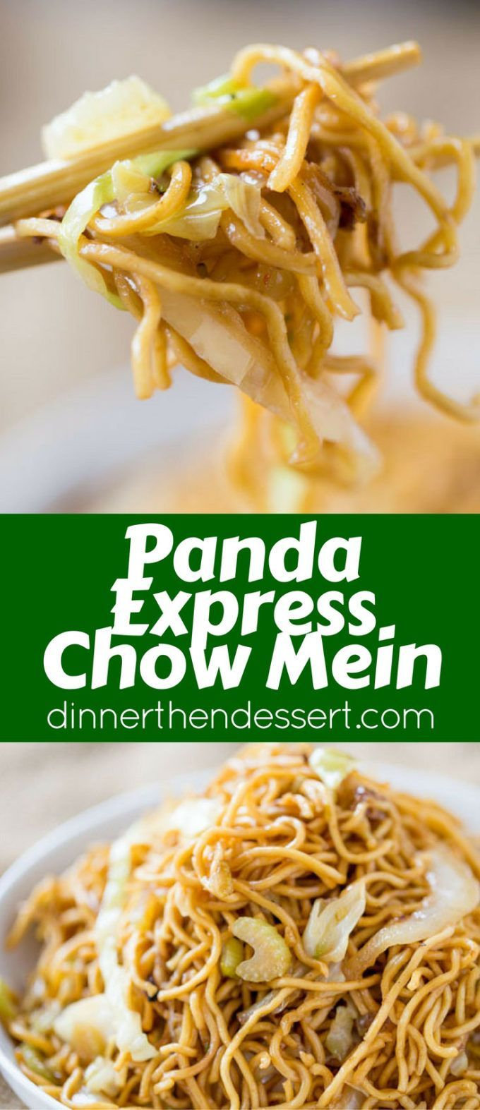 Panda Express Chow Mein that tastes exactly like you're sitting down at the restaurant eating your combo plate except half the oil and it just takes a few minutes to make!
