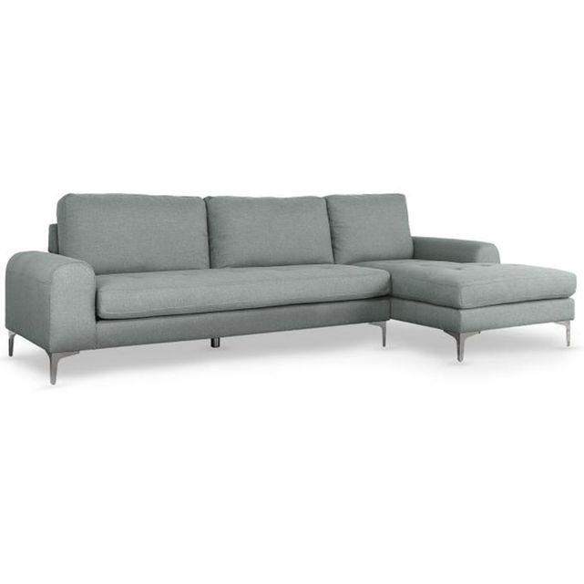 Installez ce Canapé d'angle moderne en tissu gris clair DYSART dans votre séjour ! Il peut accueillir jusqu'à 5 personnes. Doté d'un dossier et d'une assise rembourrés, il garantit un confort exceptionnel. Idéal pour des soirées ciné en famille ! Caractéristiques :- Canapé d'angle 5 places- Matière : tissu- Couleur : gris clair- Méridienne sur la gauche- Dimensions : L.289 x P.91 x H.81 cm- Poids : 62 kg