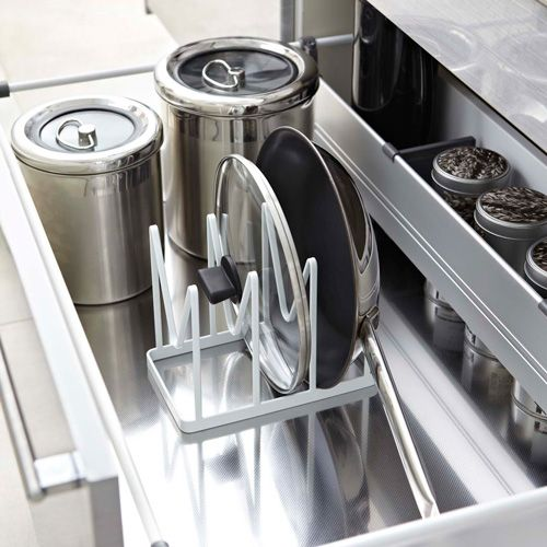 Frying Pan and Pan Lid Storage Rack