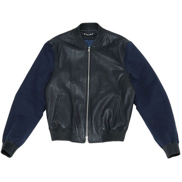Pre-owned Louis Vuitton Leather Jacket ($1,603) ❤ liked on Polyvore featuring men's fashion, men's clothing, men's outerwear, men's jackets, men clothing jackets, navy, mens leather jackets, mens blouson jacket, mens navy blue leather jacket and mens navy blue jacket