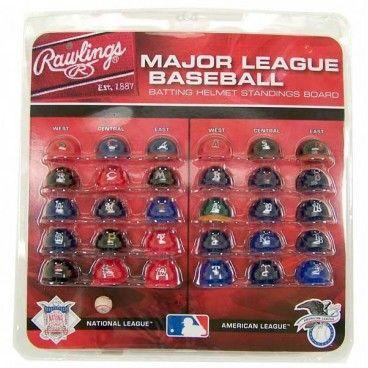 30 Cascos MLB Team Pocket Size Rawlings Helmet Set - NBA Tienda NFL