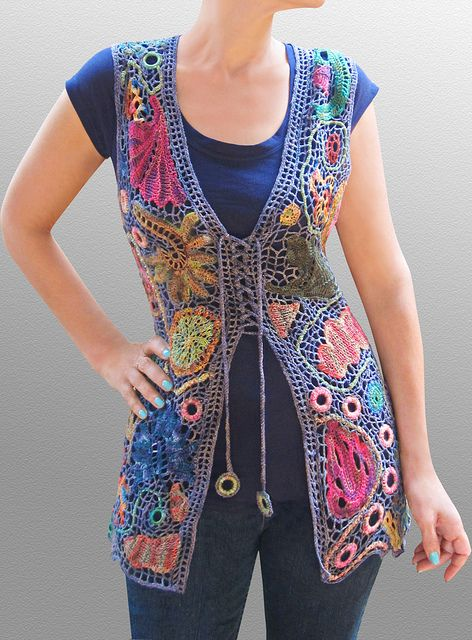 stunning freeform crochet by Myra Wood