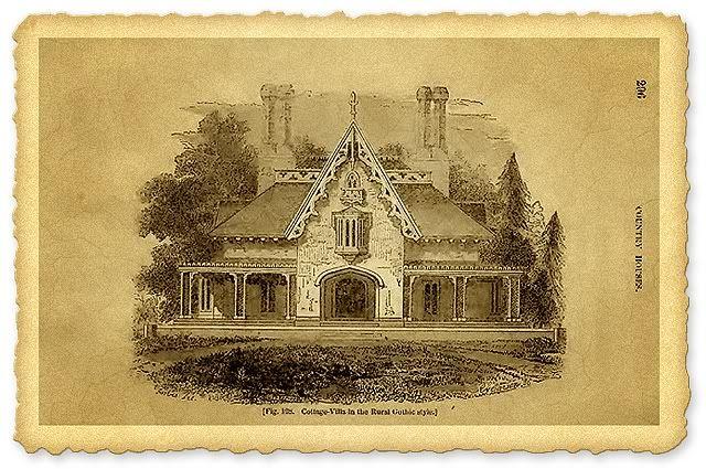 Дом в стиле Американская готика (19 век)