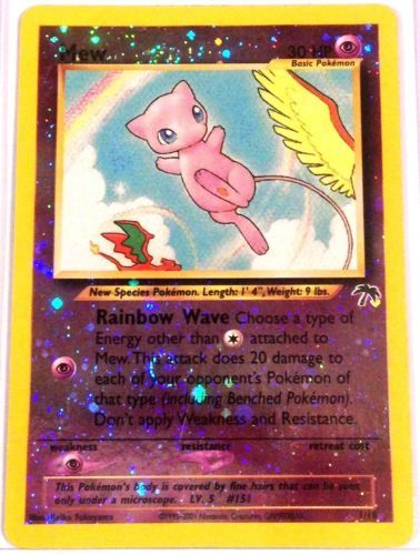 What Cards Are In A Tarot Deck: Pokemon Card MEW 1/18 SOUTHERN ISLANDS SET REVERSE HOLO