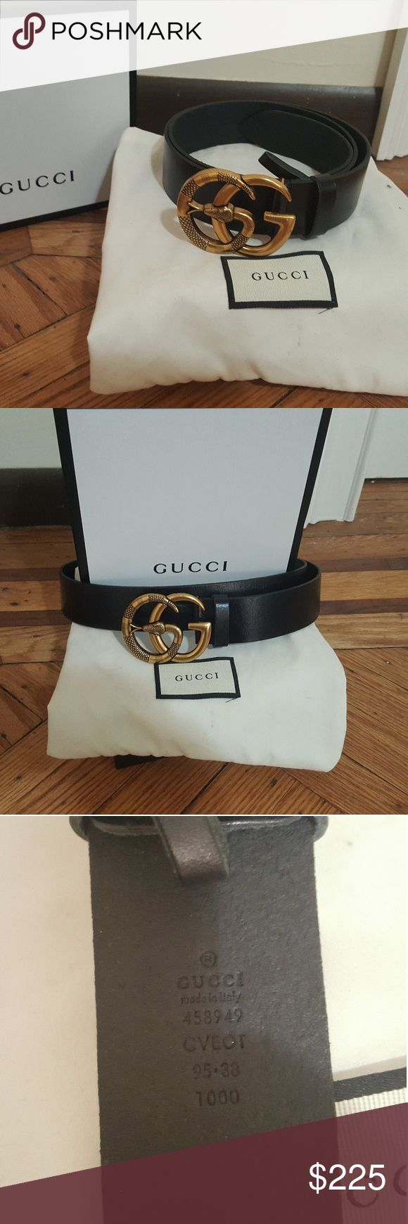 Brand new Gucci belt Brand new Gucci belt with a gold double G buckle with snake comes with box and dust bag...feel free to ask any questions Gucci Accessories Belts