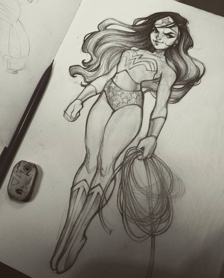 Wonder Woman sketch by Loish, via instagram