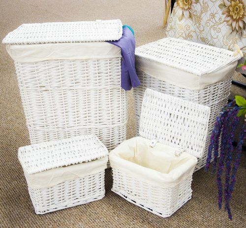 1000 images about decorative laundry hampers and baskets uk on pinterest - White wicker clothes hamper ...