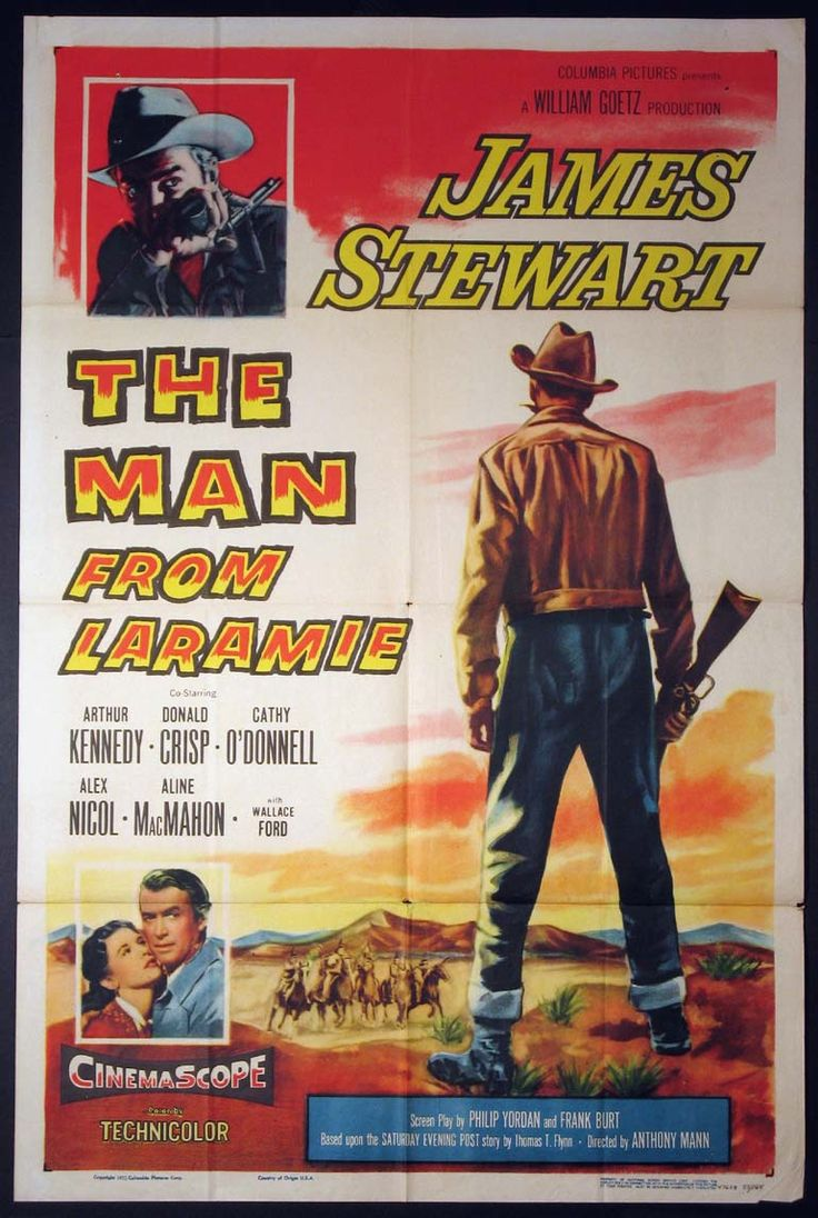 man from laramie the movie poster 1955 western movie. Black Bedroom Furniture Sets. Home Design Ideas