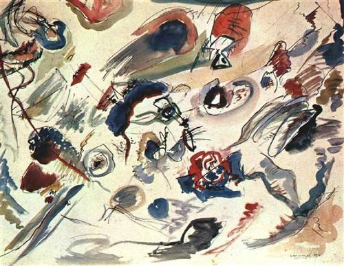 1910 First abstract watercolor kandinsky - Kandinsky's first abstract watercolor - Wikipedia, the free encyclopedia