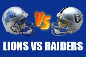 Detroit Lions vs Oakland Raiders Live Streaming
