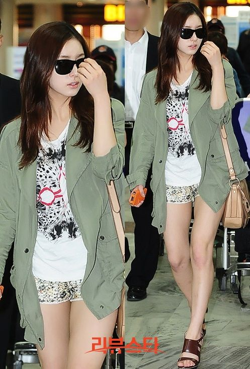 shin se kyung airport fashion