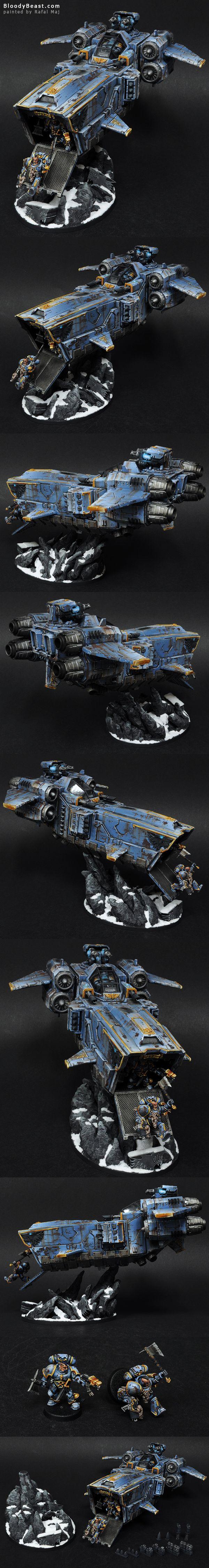 Space Wolves Stormwolf painted by Rafal Maj (BloodyBeast.com)