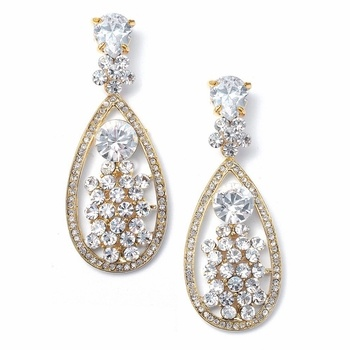 Perfect Gold Wedding earrings