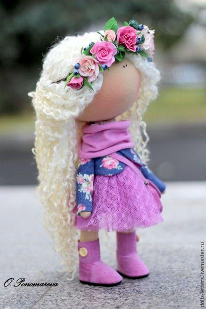 Человечки ручной работы. Заказать Текстильная кукла. Ольга Пономарёва. Ярмарка Мастеров. Кукла ручной работы, цветы ручной работы
