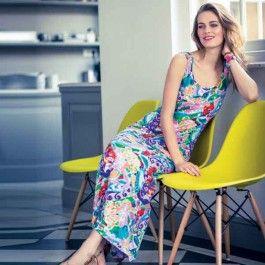 Relaxte lange hemdjurk. Deze jurk is hét kledingstuk voor een relaxte zomertijd!
