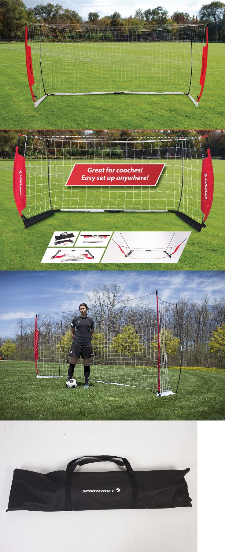 Goals and Nets 159180: New Sportcraft Flex Net Portable Outdoor Soccer Football Full Size Goal 12 X 6 -> BUY IT NOW ONLY: $119.99 on eBay!