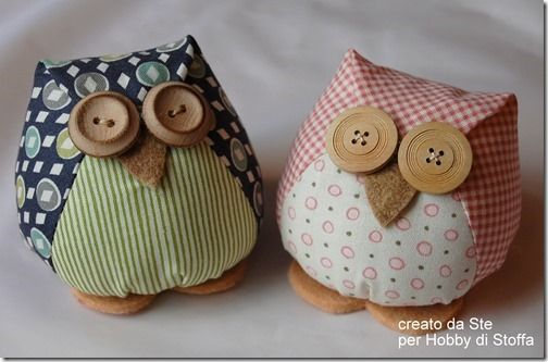 Stuffed Owl with pattern and instructions