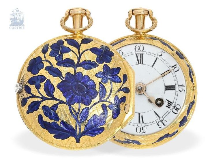 Pocket watch: extremely rare gold/enamel lady's watch, signed Jos. Em(o)ry London No.218, London hallmark 1758, attributed to Joshua Emery(1725 - 1797). Invaluable is the world's largest marketplace for art, antiques, and collectibles.