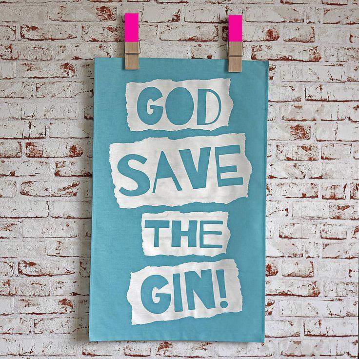 God save the gin tea towel. £9.99