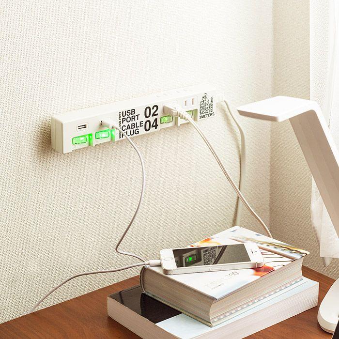 楽天市場 延長コード Cable Plug ケーブルプラグ 04 3m ホワイト