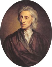 English political philosopher John Locke (1632–1704)- a major influence on the US declaration of Independence
