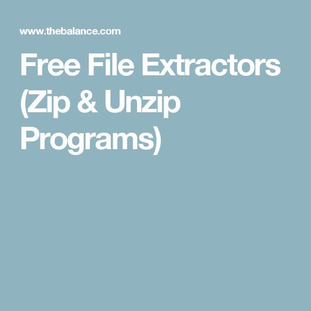 Free File Extractors (Zip & Unzip Programs)